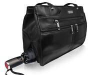 Ladies Black Real Leather Handbag - Women's Designer Medium Size Shoulder Bag