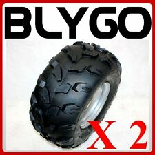 "2X 18X9.50- 8"" inch Rear Wheel Rim + Chunky Tyre Tire Quad Dirt Bike ATV Buggy"
