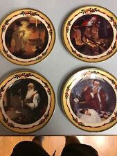Christmas Memories Plates by The Bradford Exchange(lot of 4)