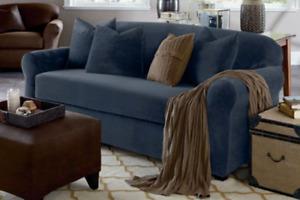 Sure fit Stretch Plush Two Piece Sofa Slipcover storm blue washable stormblue jw