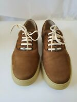 Salvatore Ferragamo Womens Lace Up Low Cut Sneakers Brown Suede shoes Size 5.5 B