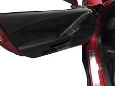 C7 Corvette  Door Panel Kickers Protectors Black (2014-2017 stingrays)