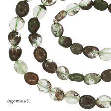 Green Phantom Quartz Free Form Nugget Beads ap. 6mm #78309