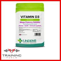 Lindens Vitamin D3 5000IU150  Capsules Healthy Teeth & Bones