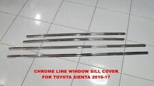TOYOTA SIENTA 2016-17 CHROME LINE OUT SIDE WINDOW SILL COVER SET OF 4 PC