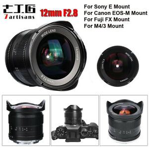 7artisans 12mm F2.8 Ultra Wide Angle Prime Lens For Fujifilm M4/3 Sony E Canon