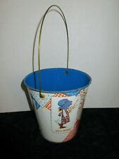 1974 Collectible Vintage Holly Hobbie Tin Metal Pail Chein American Greetings