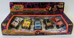 Vintage 1993 ROAD CHAMPS Super Size 5-Piece JEEP Diecast Trucks Collection, NEW!