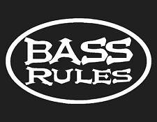 BASS RULES VINYL WINDOW DECAL BLUE 4X7 ACOUSTIC ELECTRIC BASS GUITAR MUSICIAN