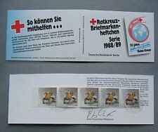 GERMANY BERLIN, privat booklet 1988 CTO FDC jewellery Red Cross Wohlfahrtsmarken