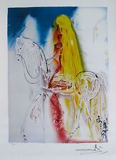 Salvador Dali Dalinean Horses Suite LADY GODIVA Facsimile Signed Art Lithograph