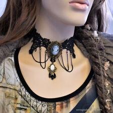 Venetian Lace Adjustable Black Necklace Choker Chain Goth Vintage Victorian Lace