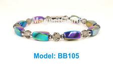 "7.5"" High power magnetic multi color hematite beads bracelet for natural healing"