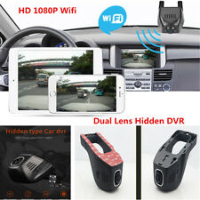 FHD 1080P Hidden Wifi Car DVR Dash Video Recorder Camera Dual Lens Night Vision