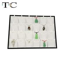 24 Girds Jewelry Display Box Pendant Tray Organizer Case Holder Necklace Stand