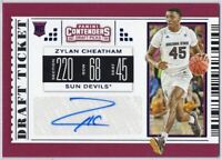 Zylan Cheatham Autograph RC Draft Ticket - 2019 Contenders Draft Picks #127