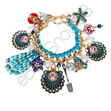 The Little Mermaid Ariel Charm Bracelet by Betsey Johnson New with Tags