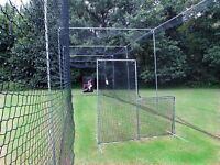 L-Screen 6' x 6' Residential Baseball Safety Frame & #42-60Ply Pitcher L Screen