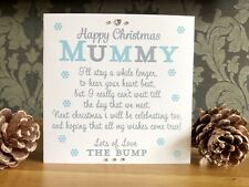 Handmade personalised Christmas Card Mummy To Be From The Bump Baby Pregnancy 🤰