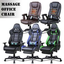 Massage Computer Gaming Chair High-back Chairs Executive Swivel Racing Office