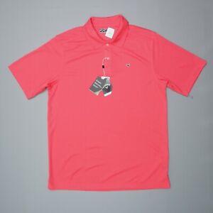 Callaway Opti-Dri Golf Polo Shirt Orange Men's Size Large