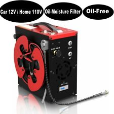 Auto Shut 30MPa Air Compressor Pump PCP 12V/110V 4500PSI High Pressure Oil-Free