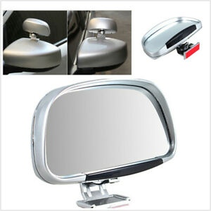 2pcs 180° Wide Angle Rear View Blind Spot Mirror Clip-on Adjustable Fit For Car