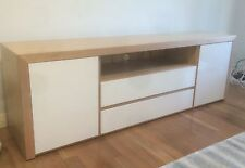 Tasmania Oak Hardwood High Gloss Polyurethane entertainment TV Unit