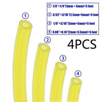 4 Pcs Fuel Gas Line Pipe Hose For Trimmer Chainsaw Blower Tools 2mm/2.5mm/3mm