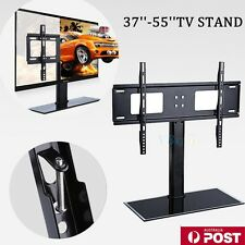 "Slim 37-55"" Universal LCD LED Plasma VESA Wall Mount TV Stand Bracket Desktop"