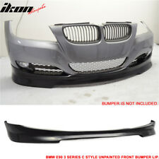 Fits 09-12 BMW E90 lCI 4 Door Sedan Front Bumper Lip Spoiler Splitter C Style PU