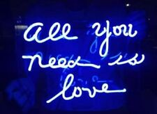 """New All You Need Is Love Blue Bar Pub Wall Decor Neon Light Sign 14"""""""