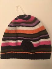 NWT BABY GAP ABBEY ROAD LINE BEANIE HAT STRIPED FLOWER KNIT 18-24 MONTHS GIRLS