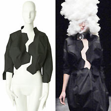 runway COMME DES GARCONS SS2009 black football cropped jacket S FR36 US4 UK8