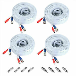 1pcs/4pcs BNC Wired Power CCTV Cable for Home Surveillance Secuirty System Kit