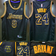 KB Badge Black Mamba #8 #24 Kobe Bryant Stitch Sewn Los Angeles Lakers Jersey