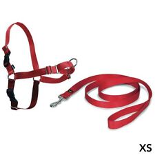 PetSafe Easy Walk Harness & 1.8m Lead for Extra Small Dogs, No Pull Collar - Red
