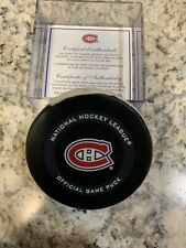 GAME USED SCORED GOAL PUCK DRAKE CAGGIULA CHICAGO BLACKHAWKS