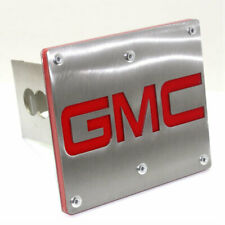 "GMC Logo Tow 2"" Receiver Hitch Cover Rear Brushed Stainless Steel Plug"