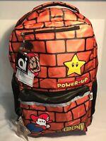 NEW SUPER MARIO BACKPACK Power Up School Book Laptop Bag | Nintendo Swag NWT