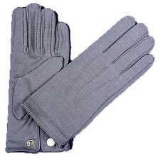 ADULT GREY NYLON WITH SNAP WRIST LENGTH GLOVES COSTUME ACCESSORY BA18