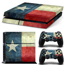 Sony PS4 Console and Controller Skins -- Texas Flag (#4-1425)