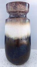 Vintage 60-70s SCHEURICH KERAMIK 242/22 Brown Vase West German Pottery Fat Lava