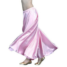 360~720 Full Circle Satin Long Skirt Swing Belly Dance Costumes Tribal Skirts AA