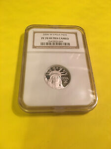 2006 W Platinum Eagle P $25 , PF 70 Ultra Cameo , N G C Proof 70