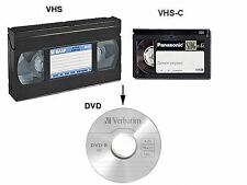 RIVERSAMENTO VHS VHS-C SVHS Hi8 Video8 MiniDV pellicole 8mm e Super8 A DVD MPEG