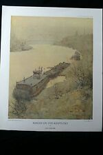 Paul Sawyier BARGES ON THE KENTUCKY Limited edition 428/1000 Lithograph Print