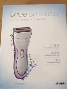 TrueSmooth BaByliss 8770U Wet & Dry Cordless Ladyshaver White 4179102