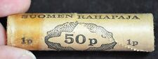 Roll of Finland 1964, 1 Pinni coins, 50 pieces, Uncirc, Suomen Rahapaja, C3624