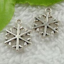 Free ship 280 pcs tibet silver snowflake charms 20X15mm B2688